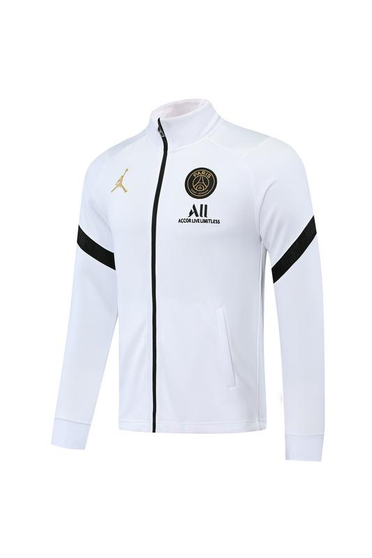 ПСЖ Спортивный костюм Джордан белый с черными вставками сезон 2020-2021